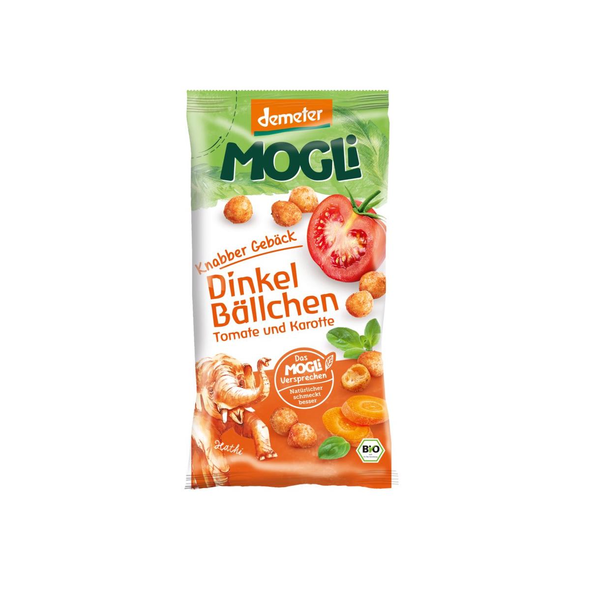 Dinkel Bällchen Tomate und Karotte Mogli
