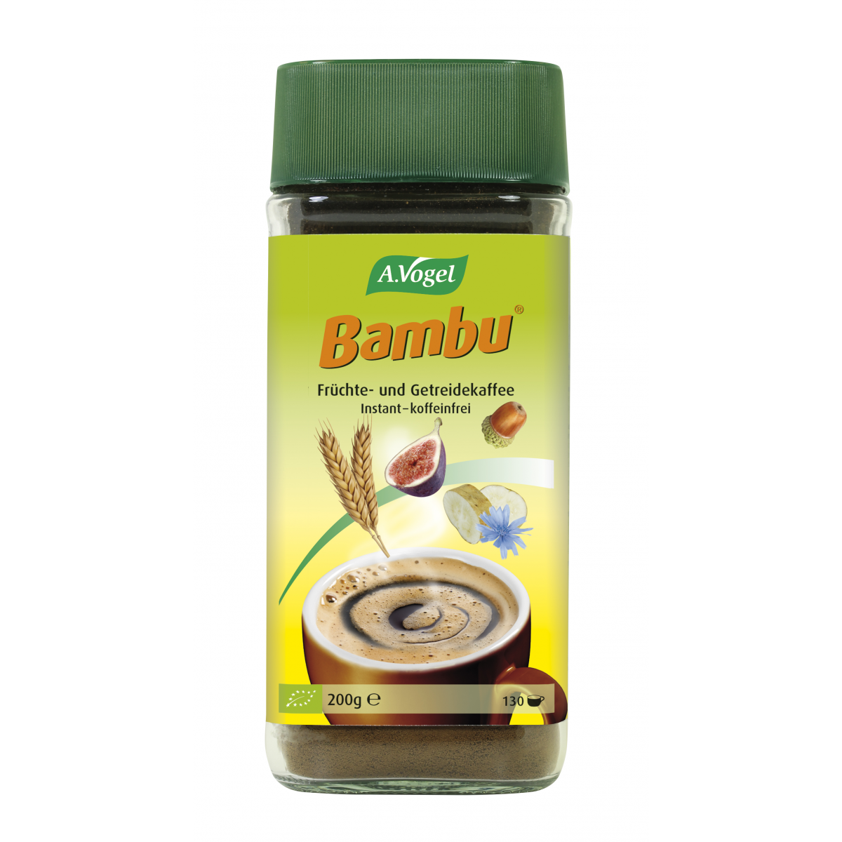 Bio Bambu Getreidekaffee Glas