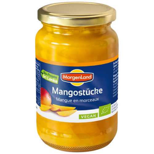 Bio Mangostücke eingemacht