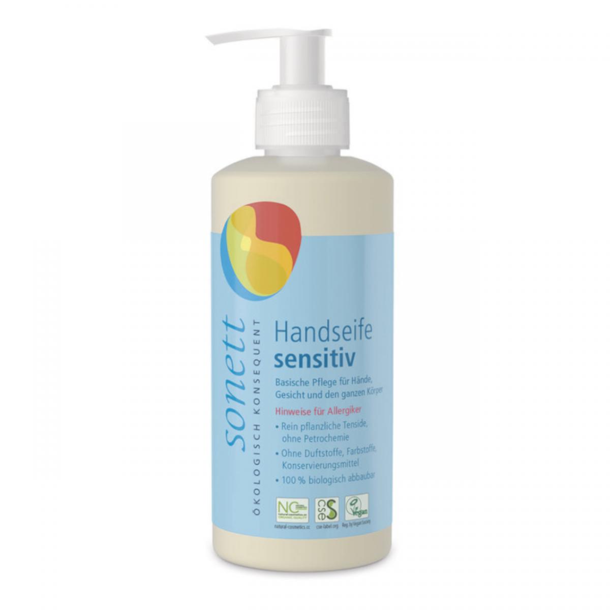Handseife Sensitiv, ohne Dufstoff, Pumpspender