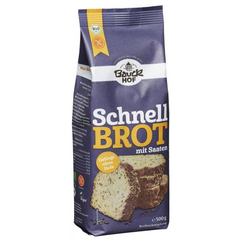 Bio Schnellbrot mit Saaten Bauck Brotmischung ohne Hefe glutenfrei