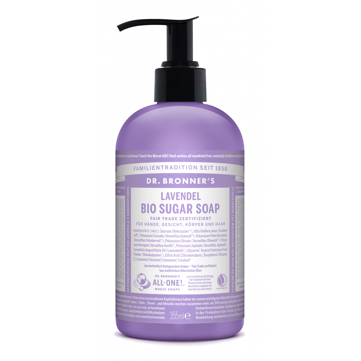 Dr. Bronner Flüssigseife Sugar Soap Lavendel