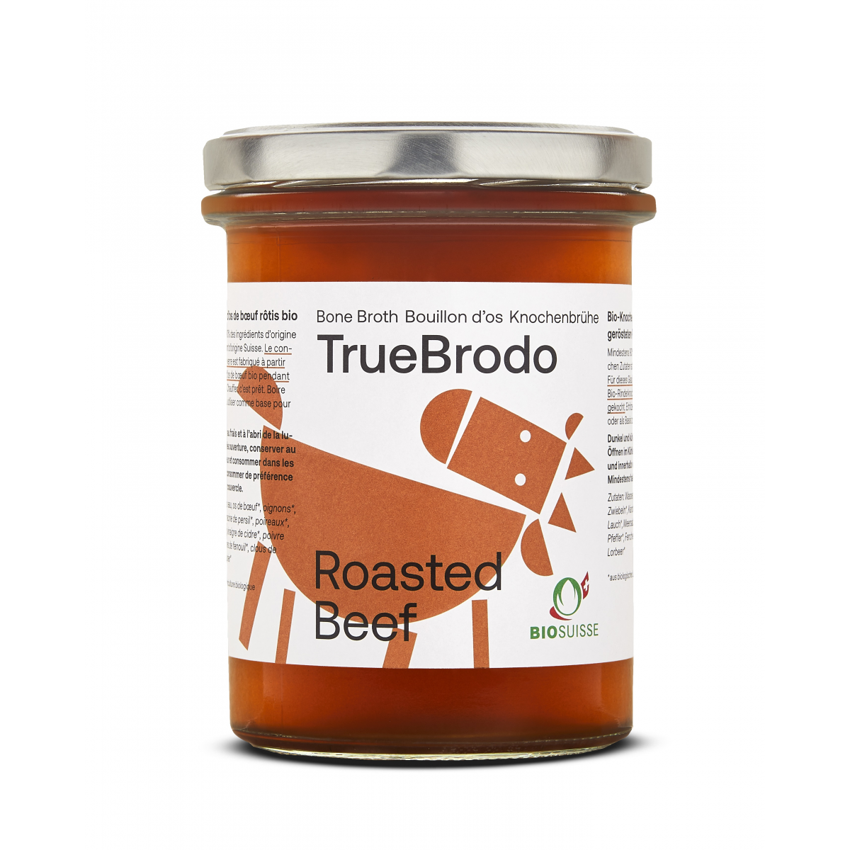 Bio Roasted Beer Broth Knochenbouillon