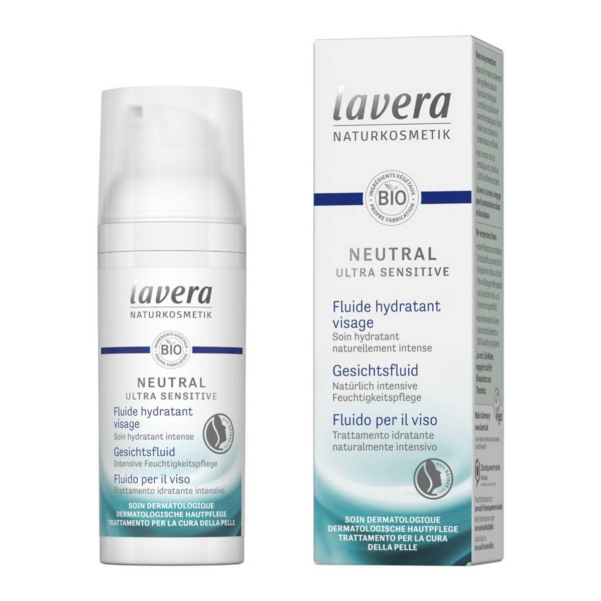 Neutral ultra sensitiv Gesichtsfluid