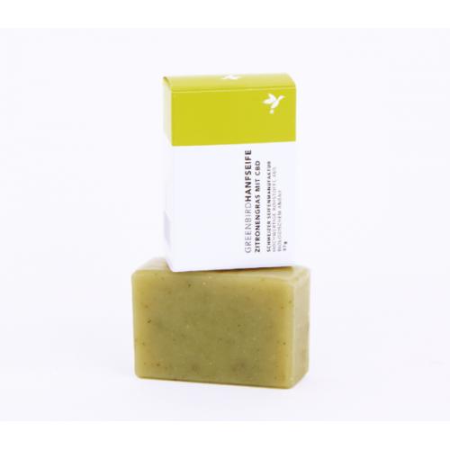 Greenbird Hanfseife + CBD Zitronengras
