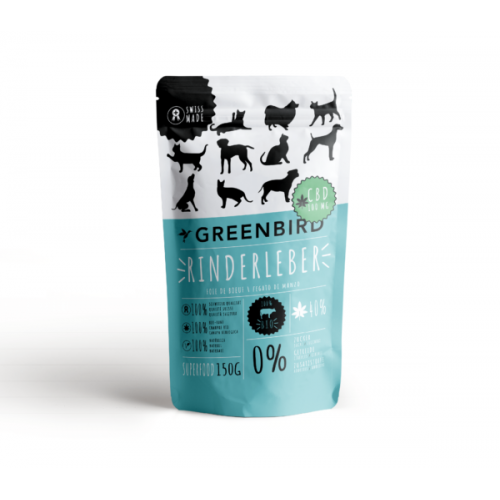 Greenbird Tiersnack Beef-Liver + CBD