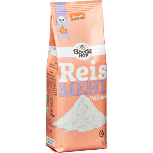 Bio Reismehl Vollkorn glutenfrei Bauck