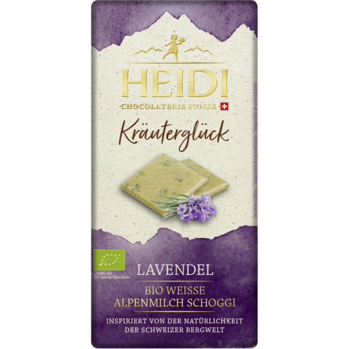 Heidi Bio Weisse Schokolade Lavendel