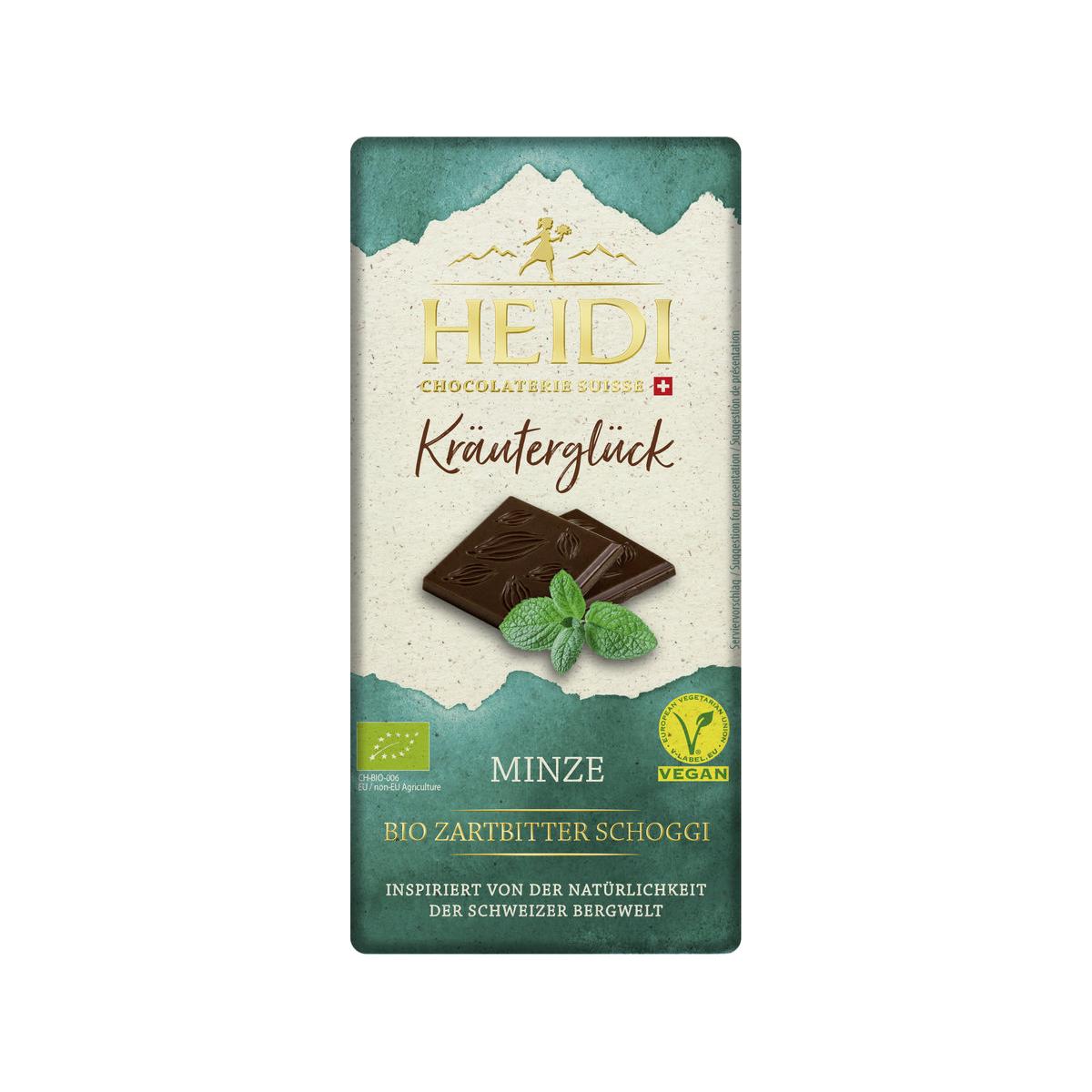 Heidi Bio Zartbitterschokolade Minze