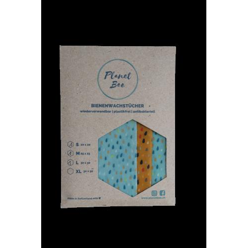 Bio Bienenwachstuch-Set Punkte (3 Stück)