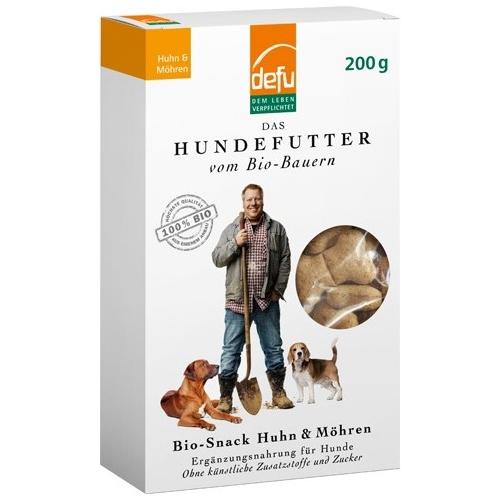 Bio Hundefutter Premium Snack Ergänzungsfutter Huhn-Möhre 200g