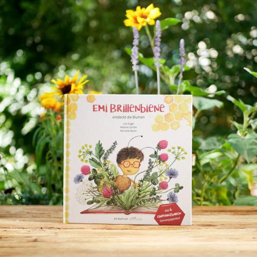 Kinderbuch Emi Brillenbiene mit Saatgut