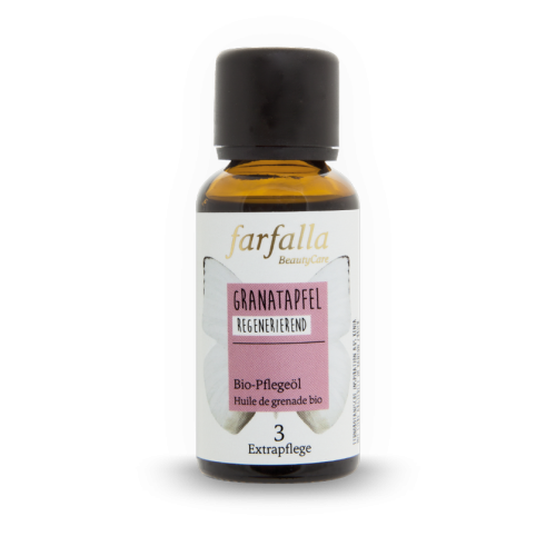 Bio Granatapfelsamenöl Flasche 30 ml/Glas Einweg - Farfalla