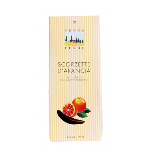 Kandierte Orangenschalen mit Zartbitterschokolade