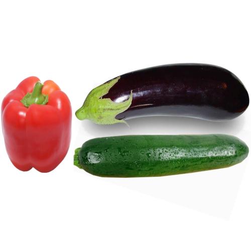 Bio-Grillgemüse Peperoni, Zucchetti, Aubergine