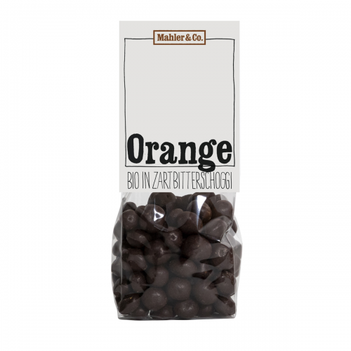 Orangen in Zartbitterschoggi
