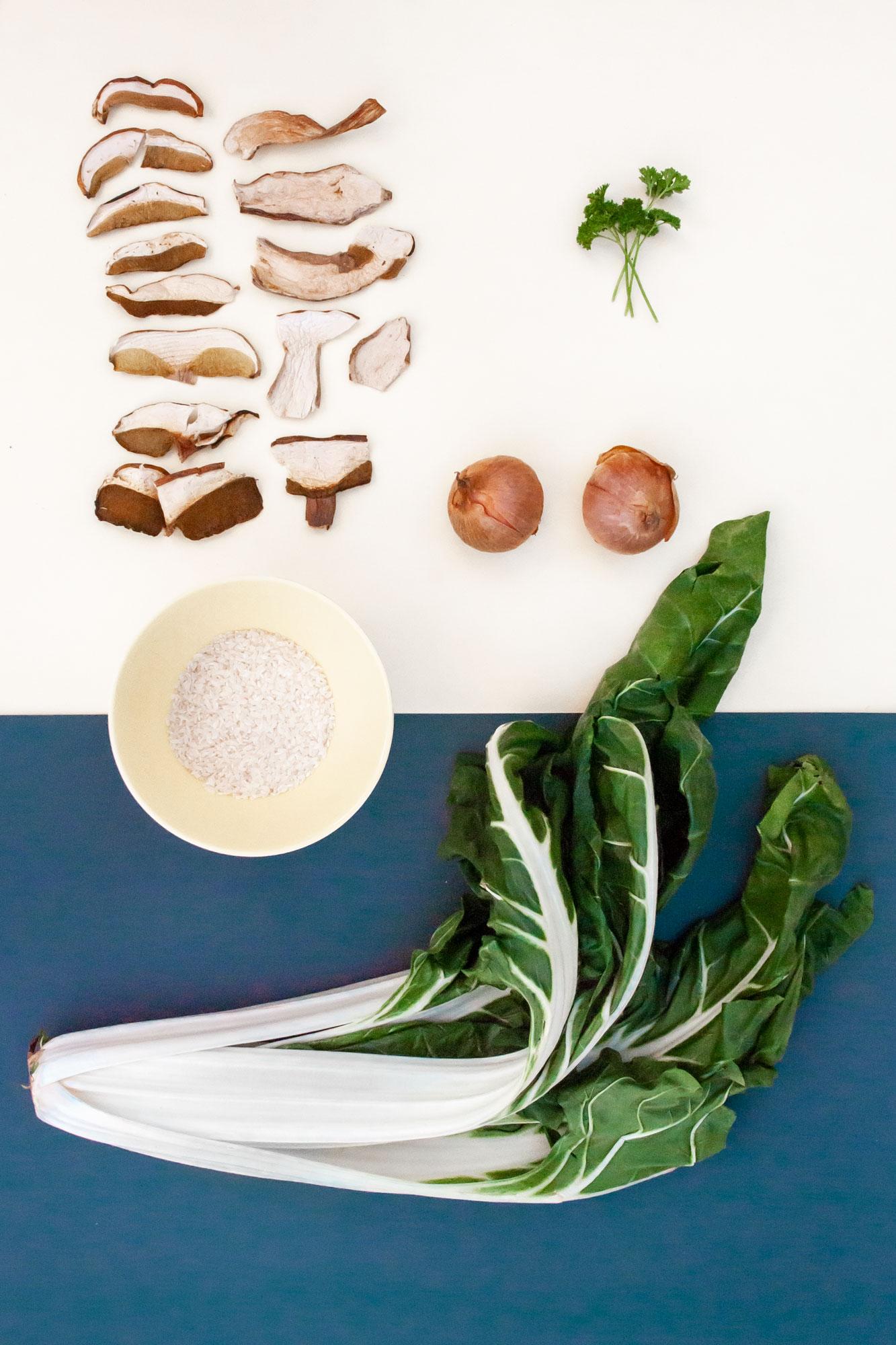 Mangold-Reis Gratin mit Pilzen