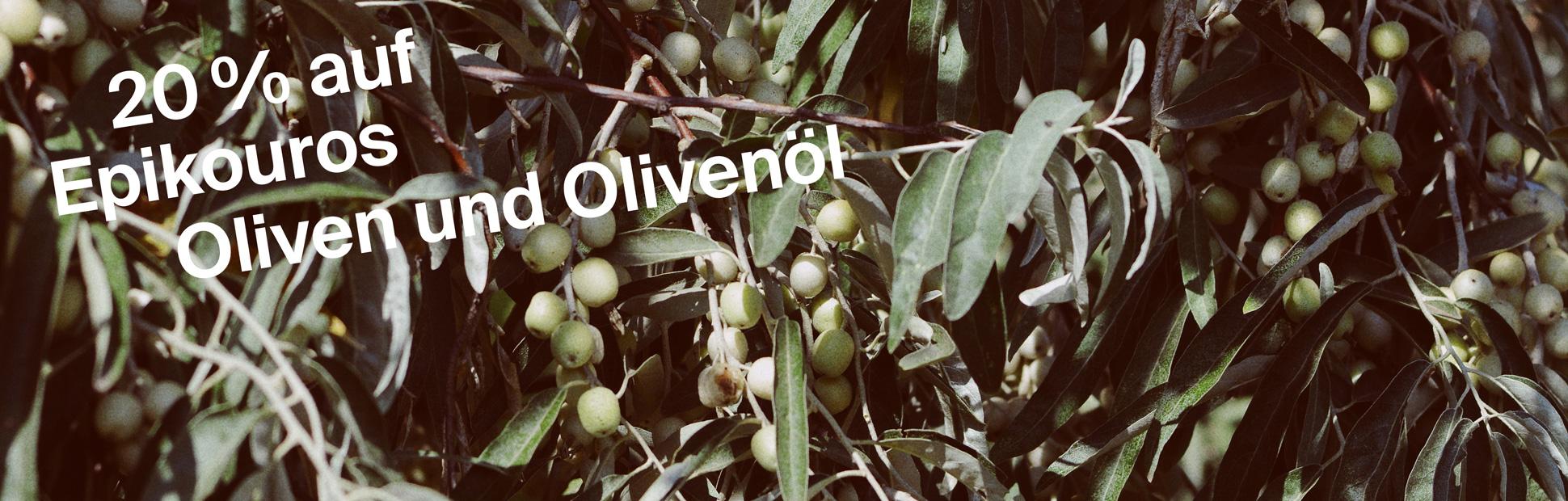 Epikouros Oliven und Olivenöl