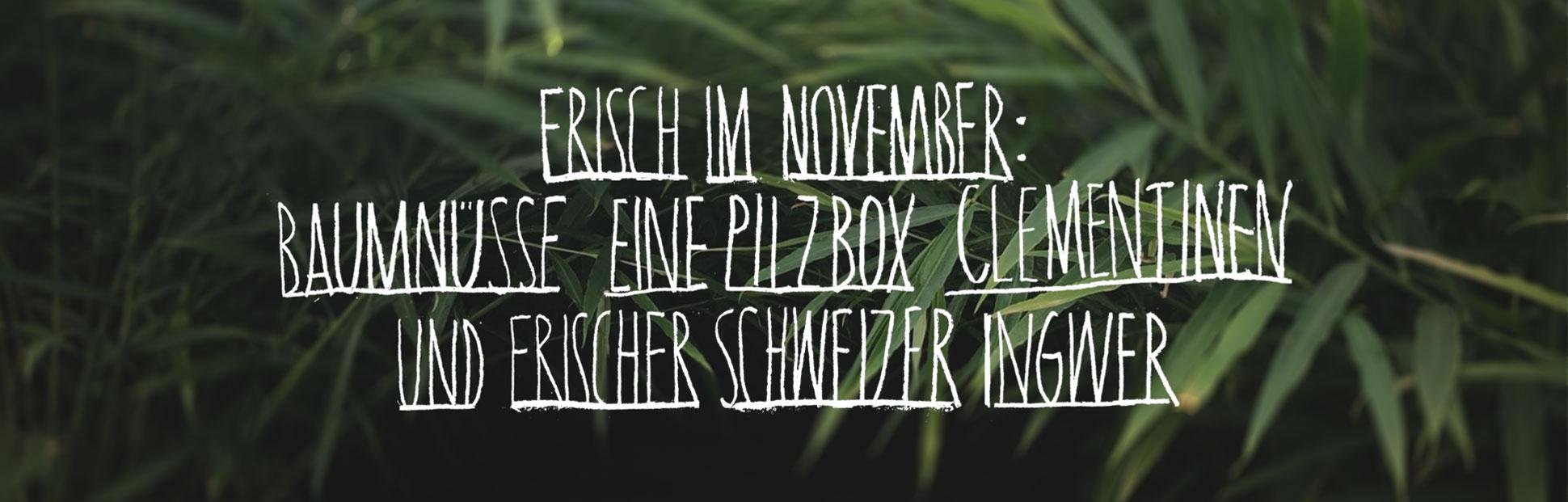Frisch im November