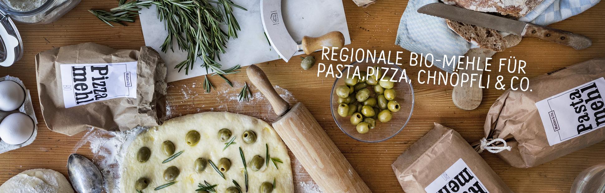 Regionale Bio-Mehle für Pizza, Pasta, Chnöpfli & Co.