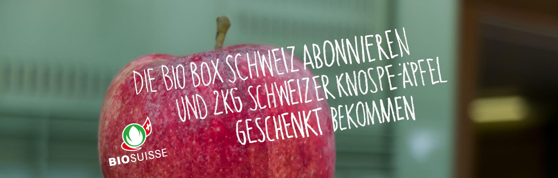 Schweizer Box mit Apfel-Geschenk